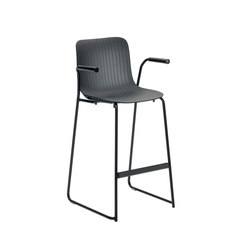 Dragonfly | Stackable stool with armrests | Sgabelli bar | Segis