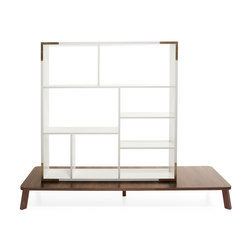 Couture room divider with table | Scaffali | Materia