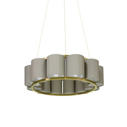 Bibendum Chandelier 12 shades | General lighting | Martin Huxford Studio