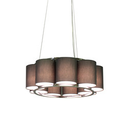 Bibendum Chandelier 9 shades | General lighting | Martin Huxford Studio