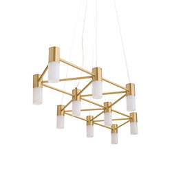 The Matrix Chandelier | Suspended lights | Martin Huxford Studio