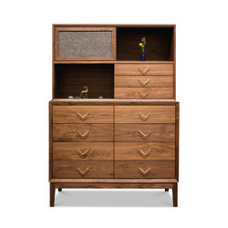Atlantic Dresser with Hutch | Armoires | VOLK