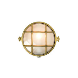 7028 Yacht Brass Bulkhead, Polished Brass | Allgemeinbeleuchtung | Davey Lighting Limited