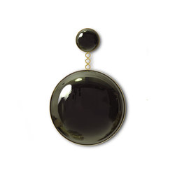 Moon & Eclipse Black Convex Mirror | Miroirs | Martin Huxford Studio