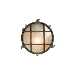 7030 Brass Bulkhead with External Fixing via Feet, Weathered Brass | General lighting | Original BTC