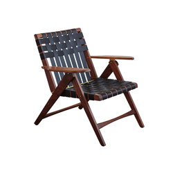 Folding Lounge Chair Walnut | Armchairs | Todd St. John