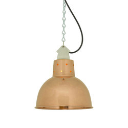7165 Spun Reflector with Suspension Lampholder, Polished Copper | Iluminación general | Davey Lighting Limited