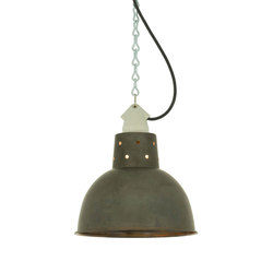 7165 Spun Reflector with Suspension Lampholder, Weathered Copper | Éclairage général | Davey Lighting Limited