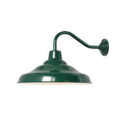 7200 School Wall Light, Painted Green, White Interior | Éclairage général | Davey Lighting Limited