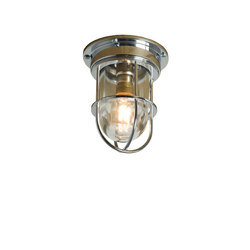 7203 Miniature Ship's Companionway Light & Guard, Chrome, Clear Glass | Allgemeinbeleuchtung | Davey Lighting Limited