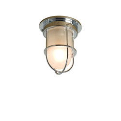 7203 Miniature Ship's Companionway Light & Guard, Chrome, Frosted Glass | General lighting | Davey Lighting Limited