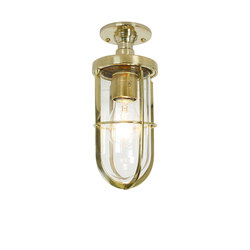 7204 Weatherproof Ship's Well Glass Ceiling, Polished Brass, Clear Glass | General lighting | Davey Lighting Limited