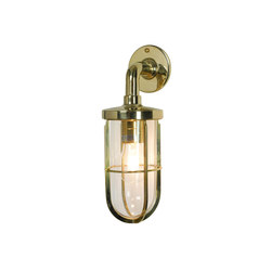 7207 Weatherproof Ship's Well Glass, Polished Brass, Clear Glass E27 | Iluminación general | Davey Lighting Limited