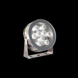 MaxiMartina Aqua Power LED / Inox 316L Underwater - Transparent Glass - Adjustable - Medium Beam 30° | Outdoor wall lights | Ares