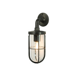 7207 Weatherproof Ship's Well Glass, Weathered Brass, Clear Glass E27 | Illuminazione generale | Davey Lighting Limited