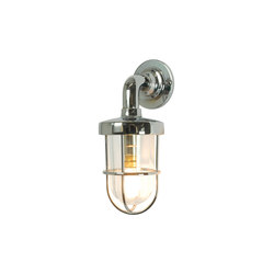 7207 Miniature Weatherproof Ship's Well Glass, Chrome Plated, Clear Glass | General lighting | Davey Lighting Limited
