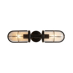 7208 Weatherproof Ship's Double Well Glass, Weathered Brass, Clear Glass | Éclairage général | Davey Lighting Limited