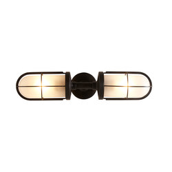 7208 Weatherproof Ship's Double Well Glass, Weathered Brass, Frosted Glass | General lighting | Davey Lighting Limited