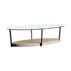 Iron Tavolino Ovale Con Vetro | Tavolini bassi | SanPatrignano