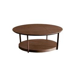 Iron Tavolino Tondo Iron Doppio Ripiano | Tavolini da salotto | SanPatrignano