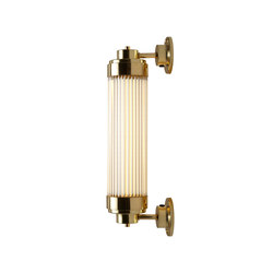 7216 Pillar Offset Wall Light LED, Polished Brass | General lighting | Davey Lighting Limited