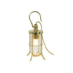 7521 Ship's Hook Light, Clear Glass, Polished Brass | General lighting | Davey Lighting Limited