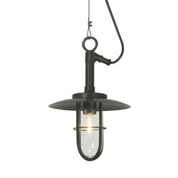 7523 Ship's Well Glass Pendant, Clear Glass, Weathered Brass | General lighting | Original BTC
