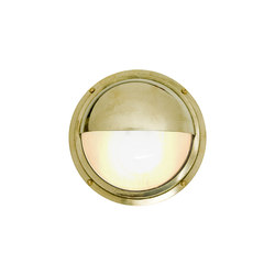 7225 Brass Bulkhead With Eyelid Shield, Polished Brass | Allgemeinbeleuchtung | Davey Lighting Limited