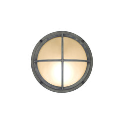 7226 Brass Bulkhead With Cross Guard, Weathered Brass | General lighting | Davey Lighting Limited
