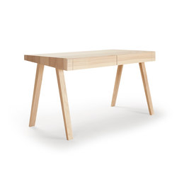 4.9 Writing Desk, 2 drawers, Lithuanian Ash | Desks | EMKO