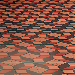 Skew Red | Concrete/cement floor tiles | Bisazza