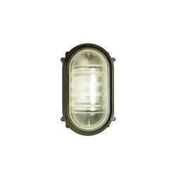 7530 Rectangular Bulkhead Fitting, E27, Black | General lighting | Davey Lighting Limited