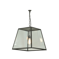 7635 Quad Pendant Light, Closed Top, Large, Weathered Brass, Clear | General lighting | Davey Lighting Limited