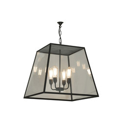 7635 Quad Pendant, XL and 4 L/holders, Weathered Brass, Closed Top | General lighting | Davey Lighting Limited