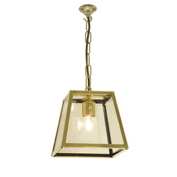 7636 Quad Pendant Internally Glazed, Small, Polished Brass, Clear | General lighting | Original BTC