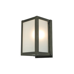 7643 Miniature Box Wall Light, Internal Glass, Weathered Brass, Frosted Glass | Allgemeinbeleuchtung | Davey Lighting Limited