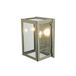 7643 Miniature Box Wall Light, Internal Glass, Polished Nickel, Clear Glass | General lighting | Original BTC