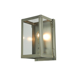 7643 Miniature Box Wall Light, Internal Glass, Satin Nickel, Clear Glass | Allgemeinbeleuchtung | Original BTC