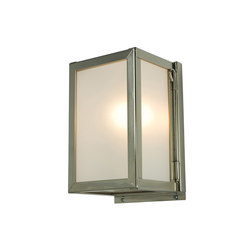 7643 Miniature Box Wall Light, Internal Glass, Satin Nickel, Frosted Glass | Allgemeinbeleuchtung | Original BTC