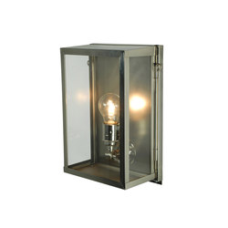 7644 Box Wall Light, Internal Glass, Small, Satin Nickel, Clear Glass | Allgemeinbeleuchtung | Davey Lighting Limited