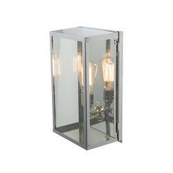 7645 Box Wall Light, Internal Glass, Medium, Satin Nickel, Clear Glass | Éclairage général | Davey Lighting Limited