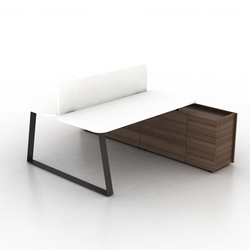 Coach Double office desk | Systèmes de tables de bureau | Ergolain