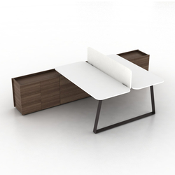 Coach Double office desk | Desking systems | Ergolain