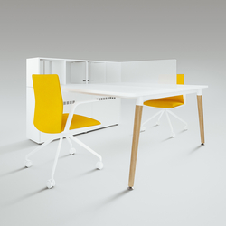 Scando Two-seat office desk | Desking systems | Ergolain
