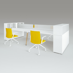 Scando Four-seat office desk | Desking systems | Ergolain