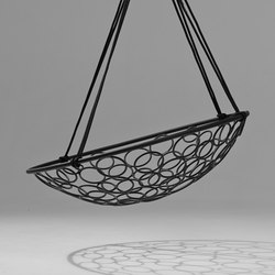 Basket Circle hanging swing chair | Garden chairs | Studio Stirling