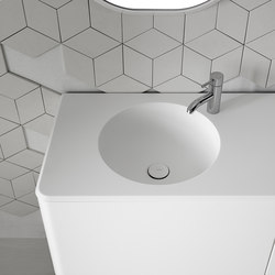Cerclo Corian® Washbasin Countertop | Wash basins | Inbani