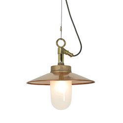 7680 Well Glass Pendant With Visor, Gunmetal, Frosted Glass, IP44 | General lighting | Davey Lighting Limited