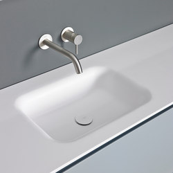 Float Solidsurface® Washbasin Countertop | Mobili lavabo | Inbani