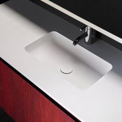 H6 Solidsurface® Washbasin Countertop | Meubles lavabos | Inbani